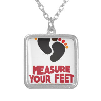 23rd January - Measure Your Feet Day Silver Plated Necklace