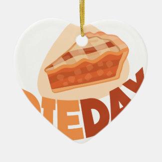 23rd January - Pie Day - Appreciation Day Ceramic Heart Ornament
