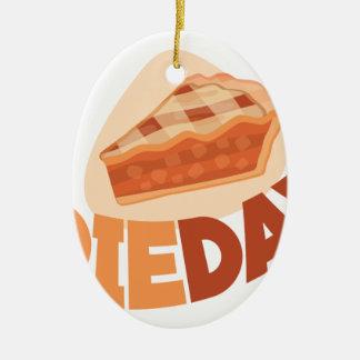 23rd January - Pie Day - Appreciation Day Ceramic Oval Ornament