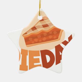 23rd January - Pie Day - Appreciation Day Ceramic Star Ornament