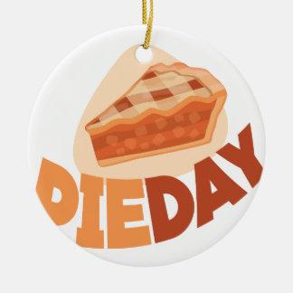 23rd January - Pie Day - Appreciation Day Round Ceramic Ornament