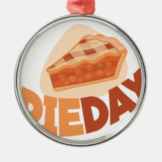 23rd January - Pie Day - Appreciation Day Silver-Colored Round Ornament