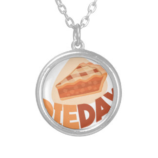 23rd January - Pie Day - Appreciation Day Silver Plated Necklace