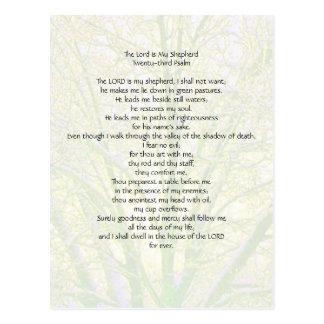 23rd Psalm... Postcard