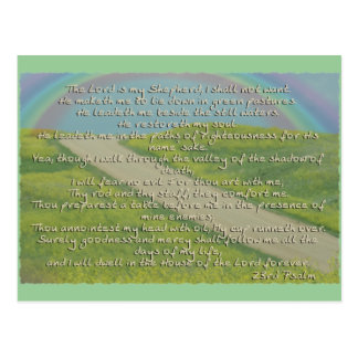 23RD PSALM THE LORD IS MY SHEPHERD BIBLE SCRIPTURE POSTCARD