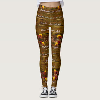 23rd Quote; Choppin' The Tree Leggings