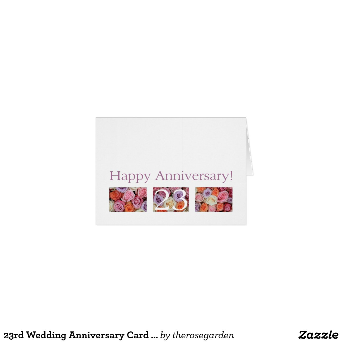 23rd Wedding Anniversary Gift Ideas: 23rd Wedding Anniversary Card Pastel Roses