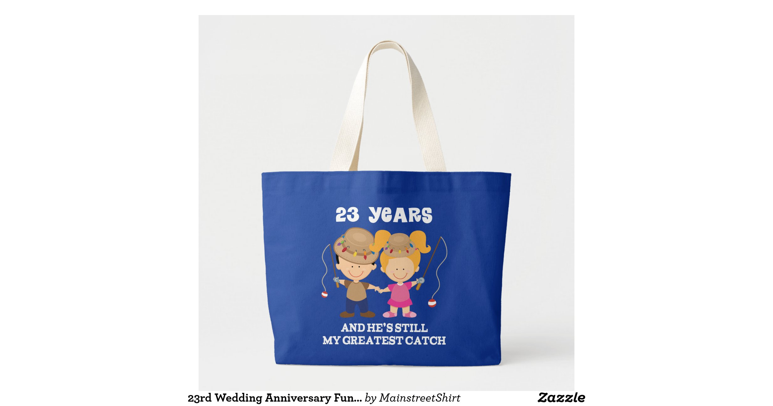 23rd Wedding Anniversary Gift Ideas: 23rd Wedding Anniversary Funny Gift For Her Jumbo Tote Bag