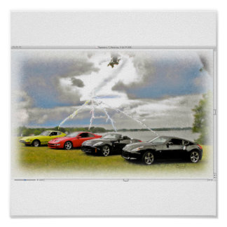 240 To 370 Z Cars Poster