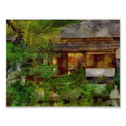 241 Japanese Garden Tea House Visitor Poster