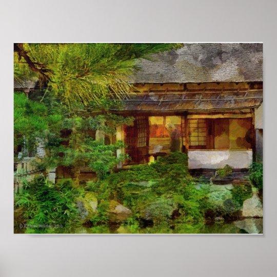 241 Japanese Garden Tea House Visitor Poster