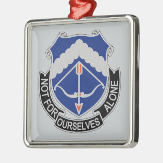 245th Aviation Regiment - Not For Ourselves Alone Silver-Colored Square Ornament