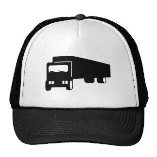 2475 Silhouettes  BLACK BIG RIG TRUCK GROUND TRANS Trucker Hat