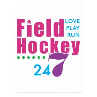 24/7 Field Hockey Postcard