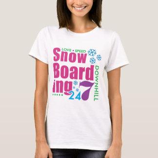 24/7 Snow Boarding T-Shirt