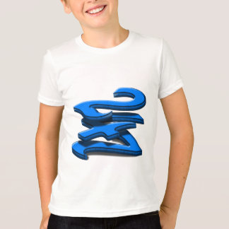24 7 -  Twenty-Four Seven - Blue Text T-Shirt