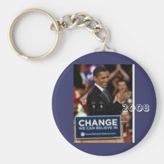 #24 Barack Obama, 2008 Keychain