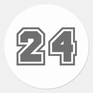 24 CLASSIC ROUND STICKER