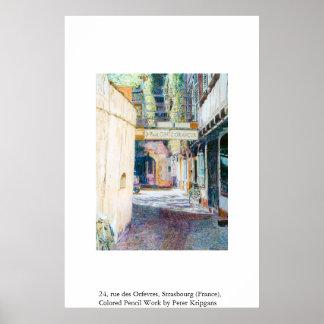 24, rue des Orfevres, Strasbourg (France) Poster