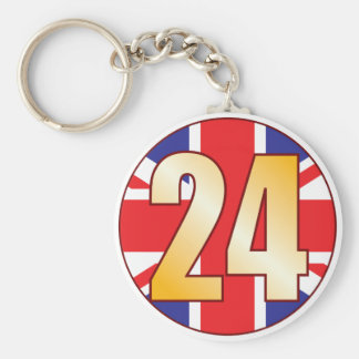 24 UK Gold Keychain