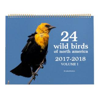 24 Wild Birds of North America Volume I 2017-2018 Wall Calendars