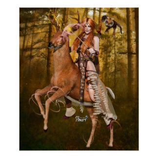 "24"" x 20"" Banrion Foraoise ~Forest Queen~ Poster"