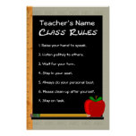 24 x 36 Class Rules Customizable Poster