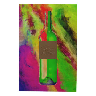 24 X 36 WINE IS BOTTLED POETRY WOOD WALL ART