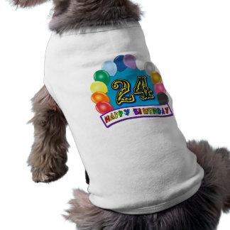 24ème Cadeaux d'anniversaire avec la conception as T-shirt Pour Chien
