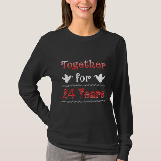24th Anniversary Gift T-Shirt For Couples
