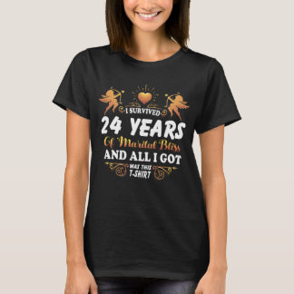 24th Anniversary Shirt For Husband Wife.