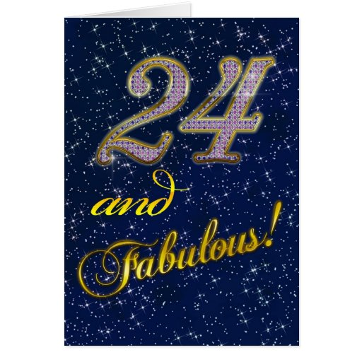 24th Birthday Party Invitation Greeting Cards