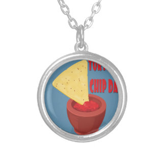 24th February Tortilla Chip Day - Appreciation Day Silver Plated Necklace