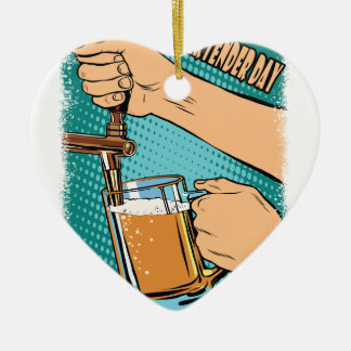 24th February - World Bartender Day Ceramic Ornament