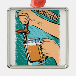 24th February - World Bartender Day Metal Ornament