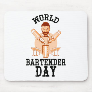24th February - World Bartender Day Mouse Pad