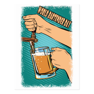24th February - World Bartender Day Postcard