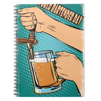 24th February - World Bartender Day Spiral Notebook