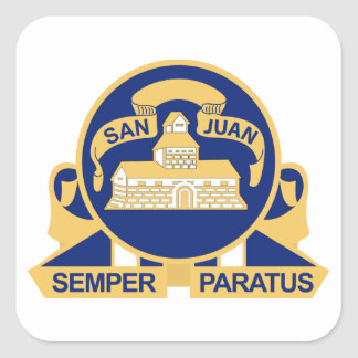 24th Infantry Regiment - San Juan Square Sticker