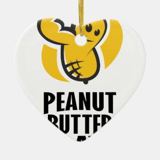 24th January - Peanut Butter Day Ceramic Ornament