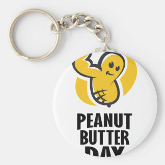 24th January - Peanut Butter Day Keychain