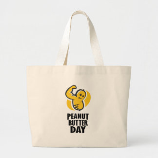 24th January - Peanut Butter Day Large Tote Bag