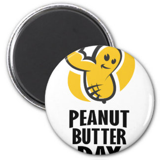 24th January - Peanut Butter Day Magnet
