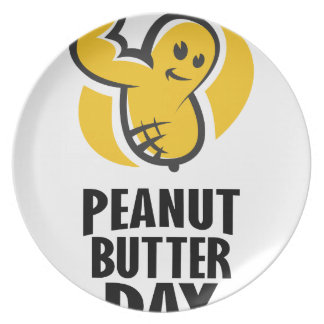 24th January - Peanut Butter Day Plate