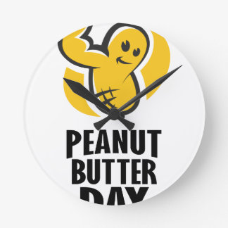 24th January - Peanut Butter Day Round Clock