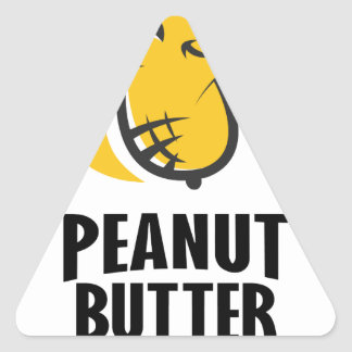 24th January - Peanut Butter Day Triangle Sticker