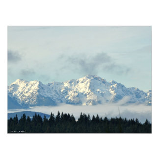 24X18 The Olympic Mountains Photo Print