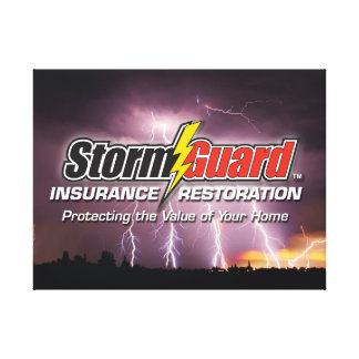 24x18 Wrapped Canvas with Storm Guard logo