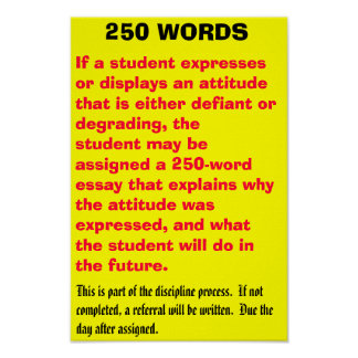 250 words - Customized Posters
