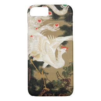 25. 老松白鳳図, 若冲 Pine-tree and Chinese Phoenix, Jakuc iPhone 8/7 Case
